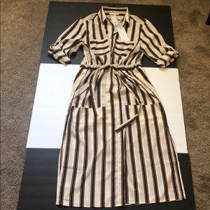 Lush dress  long w/ stripes (new)